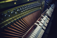 Picture of the inside of a piano by Benjamin Linh VU